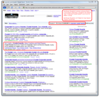 Corporate Crystal Award Screenshot of Google Search Rankings Results for ShopKart Awards and Trophy Web Site Shopping Cart Software