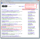 Secretary Gifts Screenshot of Google Search Rankings Results for ShopKart Awards and Trophy Shopping Cart Web Site Software