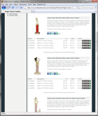 ShopKart Shopping Cart Product Listing Screenshot showing Trophy Products