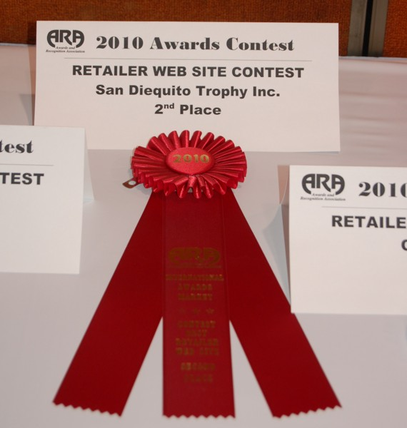 SD Trophy Wins 2nd Place in Awards Shopping Cart Retailer Web Site Contest