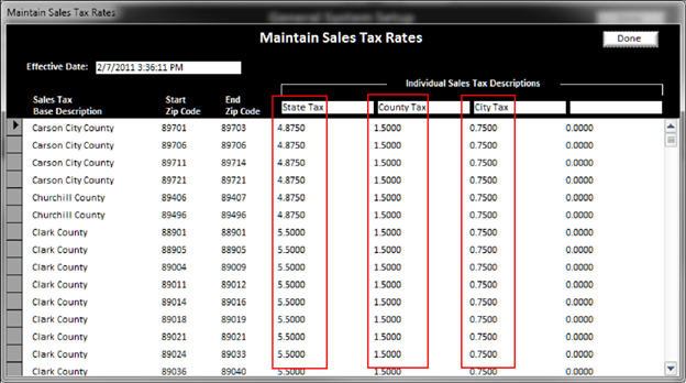 Sales Tax Setup - BizWizard Order Manager User's Guide